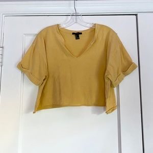 Yellow Crop Tee